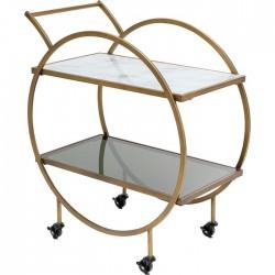 Bar Cart Loft Brass