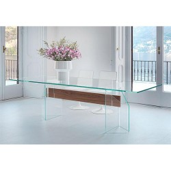 COMEDOR DOGE GLASS CLEAR W/...