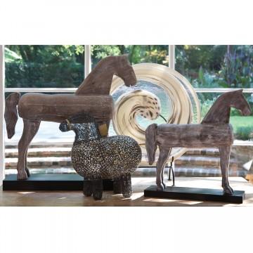 ADORNO FOLK ART HORSE -...