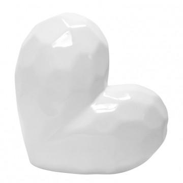 ADORNO WHITE CERAMIC HEART...